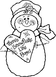 merry christmas snowman coloring pages kids coloring