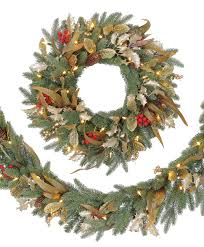 decorated artificial wreaths and garlands tree classics