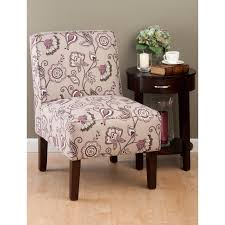Living Room Occasional Chairs by Funiture Grey Fabric Wingback Accent Chair With Cushion And