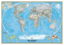 world politic map world political map classic mounted national geographic store