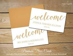 printable name place cards script wedding place cards gold printable placecards diy