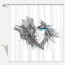 Artistic Shower Curtains Black Shower Curtains Cafepress