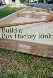 How To Build A Backyard Ice Rink by How To Build A Box Hockey Rink Hockey Box And Gaming