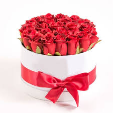roses in a box send and care our stunning roses in a white hat box to kuwait