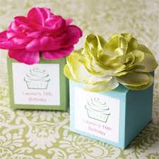 personalized favor boxes personalized flower topped favor box garden theme wedding favors