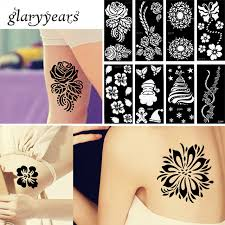 42 designs 1 piece henna tattoo stencil waterproof flower lace