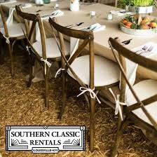 chair rentals for wedding vineyard cross back chairs southern classic rentals