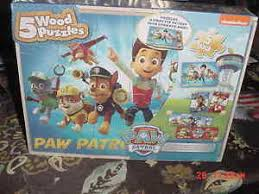 paw patrol wooden puzzles includes 5 puzzles ebay