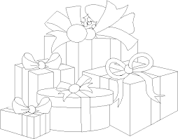 christmas coloring pages presents