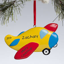 personalized airplane christmas ornament