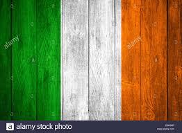 Irrland Flag Ireland Flag Or Green White And Orange Irish Banner On Wooden