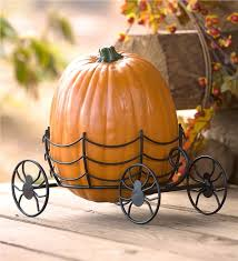 pumpkin carriage pumpkin carriage stand decor plow hearth