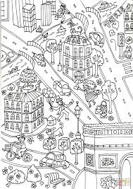 the arc de triomphe and la defense coloring page free printable
