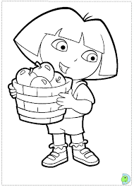 6 fantastic dora explorer coloring pages ngbasic