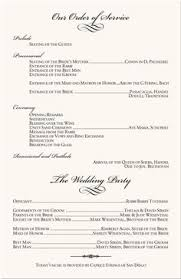 wedding bulletins exles christian wedding programs ceremony ceremony