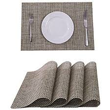 best placemats for marble table amazon com placemat set of 4 reversible kitchen table decor woven