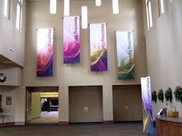 church banner material outreach