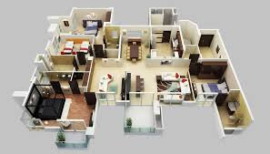 4 bedroom 1 story house plans cool design 6 4 bedroom 1 story house plans 3d apartmenthouse