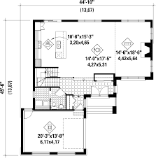 contemporary style house plan 3 beds 1 50 baths 1848 sq ft plan