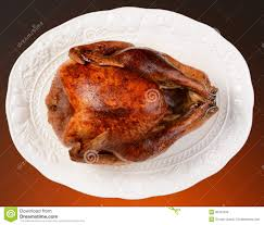 thanksgiving turkey on platter stock photos image 35767943