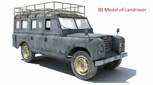 vintage land rover defender old landrover car 3d model youtube