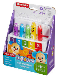Fisher Price Toy Box Amazon Com Fisher Price Laugh U0026 Learn Colorful Mood Crayons Toys