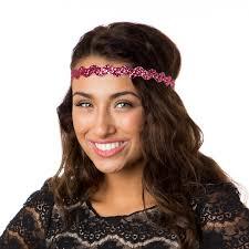 hipsy headbands hipsy adjustable no slip bling glitter pink wave headband