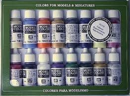 17ml bottle napoleonic model color paint set 16 colors hobby and
