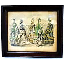 godey s fashions antique 1870 godey s fashion print chairish