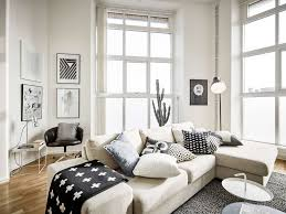 living room bright scandinavian living room design with l shape