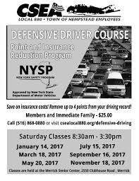 senior driving class defensive driving class csea local 880 town of hempstead employees