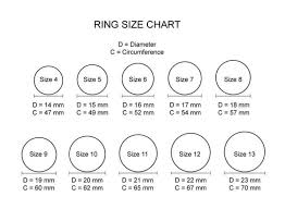 wedding ring sizes engagement wedding ring size chart