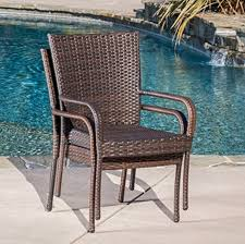 amazon com best selling outdoor wicker chairs 2 pack outdoor