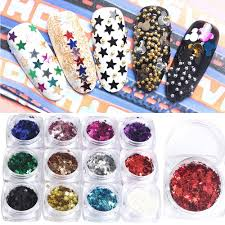 new nail art decorations star sequins metallic paillettes