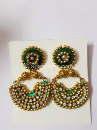 chandbali earrings chandbali earrings with stones and golden all ap crafts