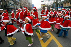 Santa Claus Parade In Central Tokyo Photos And Images Getty Images by Faces Of Santa