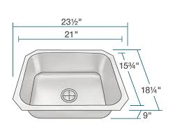 kitchen sink size for 24 inch cabinet us1038 single bowl stainless steel kitchen sink