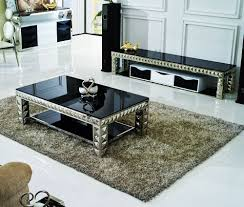 Silver Living Room Furniture Unique Glass Coffee Table Design Contemporary Living Room