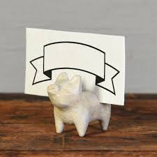 white cast iron pig place card holders set of 4 by homart seven