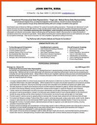 pharmaceutical sales representative resume healthcare marketing