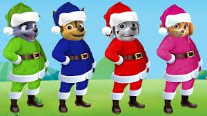 paw patrol transforms into santa claus christmas finger family