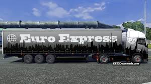 trailer volvo euro express skin trailer for volvo fh 2012 ets 2 mods