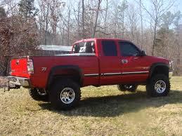 Red Lifted Chevy Silverado Truck - muddychevy1365 1999 chevrolet silverado 1500 extended cabshort bed