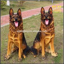 home decor lovely lifelike resin german shepherd dog statues for