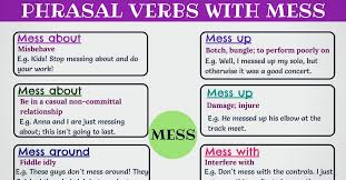 I Messed Up On The - 17 commonly used phrasal verbs with mess in english 7 e s l