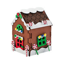 3d gingerbread house christmas craft kit craft kits gingerbread