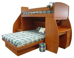 Wood Bunk Bed With Futon Wooden Bunk Bed With Futon Roselawnlutheran
