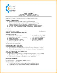 entry level pharmacy technician resume sample resume template