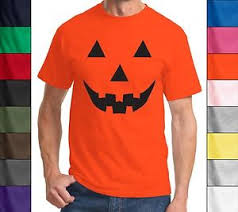 funny halloween t shirt pumpkin face easy costume jack o lantern