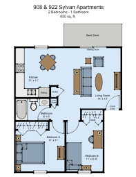 908 sylvan apartments 2 bed haag management inc floor plan